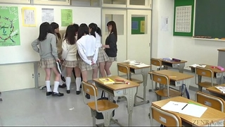 Japanese school from hell with extraordinary facesitting subtitled