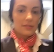 Flight attendant uses in-flight wifi to webcam on camsoda!