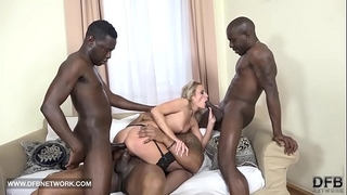 Hardcore group sex double anal double penetration interracial spunk flow facial