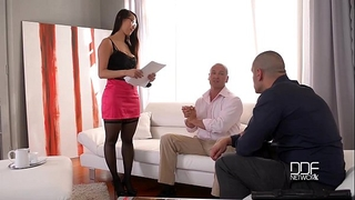 Handsonhardcore - eurasian large ass nympho likes double penetration