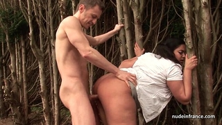 Huge boobed bbw screwed hard outdoor in french countryside