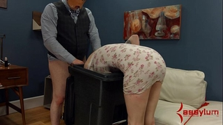 Goth white wife receives anal torment and facefucking in the garbage