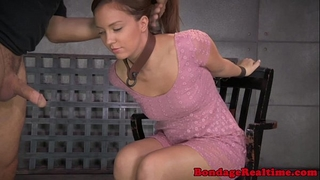 Bdsm sub maddy oâ´reilly gagging on ramrods