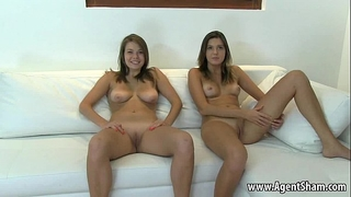 Two teenage hotties posing bare for their agents part two 720 1