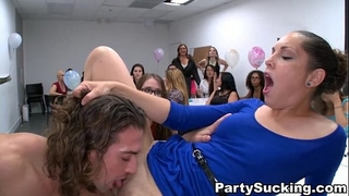 Deepthroat party with slutty angels