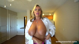 Busty sex dr finger gangbanged in advance of her cum facial