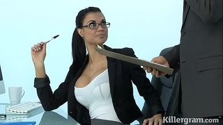 Sexy milf jasmine jae plays the office whore addicted to hard ramrod